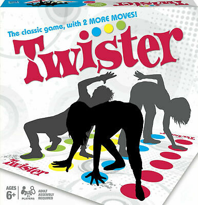 New Twister Classic Game With 2 More Moves Family Party Games Fun Children Xmas • 4.99£