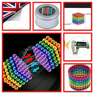 5mm Magnets 3D Puzzle Ball Magic Balls Beads Sphere Magnetic Toys Gifts Adults • 10.59£