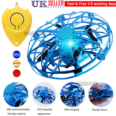 Mini Levitation Drone UFO Flying Toy Hand Controlled Infrared Induction Kids Gif • 10.98£