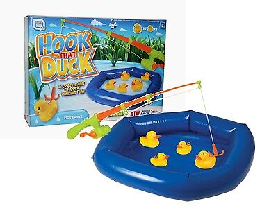 Hook A Duck Inflatable Pool & Rod Game Childrens Fete & Fair Party Toy 16-7006  • 7.95£