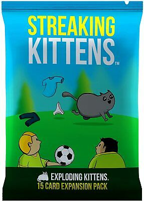 Streaking Kittens: This Is The Second Expansion Of Exploding Kittens Card Game • 5.99£