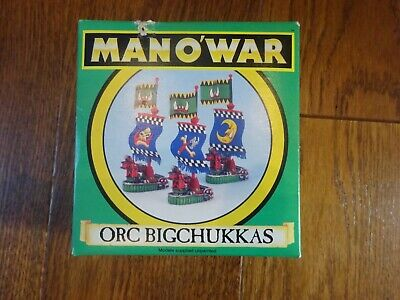 Warhammer Man O'War Orc Bigchukkas Boxed Set.  New, Un-used.  Complete • 28£