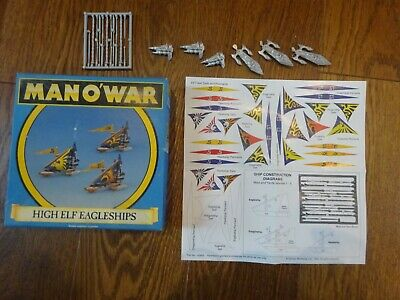 Warhammer Man O'War High Elf Eagleships Boxed Set.  New. Un-used. Complete • 28£