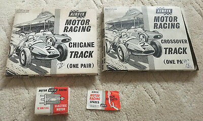 2x Vintage Airfix Slot Car Racing Boxed Track Chicane And Crossover • 6£