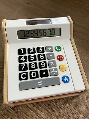 IKEA Toy Cash Register Till Calculator Quality Wooden & Plastic Toy  • 3.99£