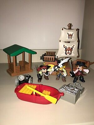 Mickey Mouse Minnie Pirate Ship Treasure Island Play Set • 12£