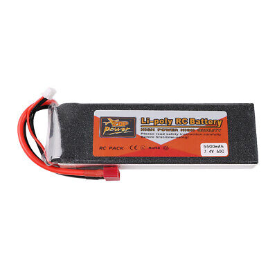 5500mAh ZOP Power 7.4V 2S LiPo Battery 60C Deans T Plug For RC Car Drone Airplan • 25.55£