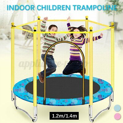 Round Indoor Mini Trampoline Child Playing Jumping Bed Exercise Enclosure Pad  • 47.59£
