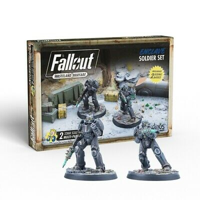 Fallout Wasteland Warfare Miniatures Enclave Solider Set Brand New & Sealed • 21.95£