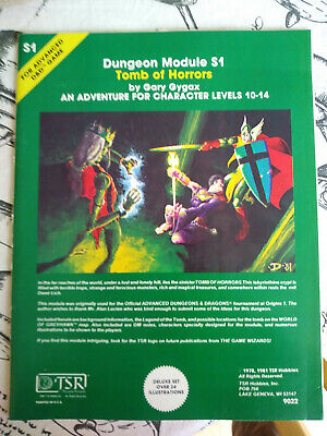 Advanced D&D Dungeon Module S1 Tomb Of Horrors • 34.99£
