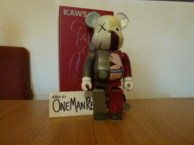 Kaws X Original Fake Bearbrick Dissected 400% Brown/Red Be@rbrick Medicom • 649.99£