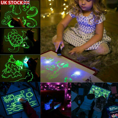 Kids Draw With Light Magic Drawing Painting Board Educational Developing Toy Fun • 7.22£