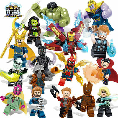 16Pcs Avengers Superheroes Iron Man Mini Figures Building Blocks Kids Toys Gift • 14.27£