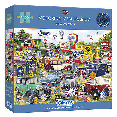 Gibsons (G6306) Motoring Memorabilia Jigsaw Puzzle 1000 Pieces • 17.99£