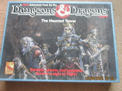 Tsr D&d The Haunted Tower 1081 Game Big Boxed Dungeon Dragon Vgc + Standees • 129£