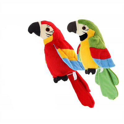Repeat Talking Parrot Moves Imitates Your Voice Gift Joke And Fun Toy UK • 11.55£