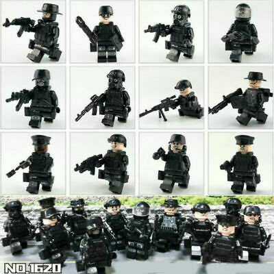 UK SWAT POLICE Military Mini Figures Weapon Army Soldier Fit Lego Toy Xmas Gift • 6.29£