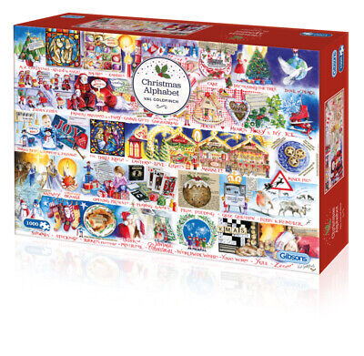 Gibsons Christmas Alphabet 1000pc Puzzle G7104 • 12.99£