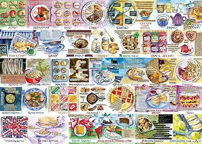 Gibsons Pork Pies & Puddings 1000pc Puzzle G7107 • 12.99£