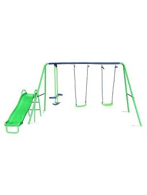 Swing ,Glider And Slide Set  Great Outdoor Fun For Kids • 130£