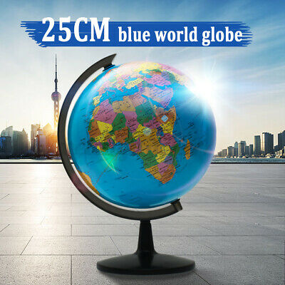 25CM Educational Rotating World Globe Desktop Childrens Kids Christmas Xmas Gift • 16.69£