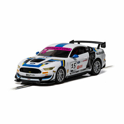 SCALEXTRIC Slot Car C4173 Ford Mustang GT4 White Car No.15 • 29.99£