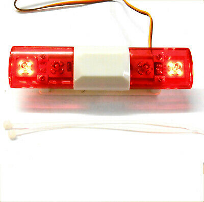 LY501A 1/10 Scale Body Shell Direct Roof Mount RC Police Light Bar LED Red • 11.99£