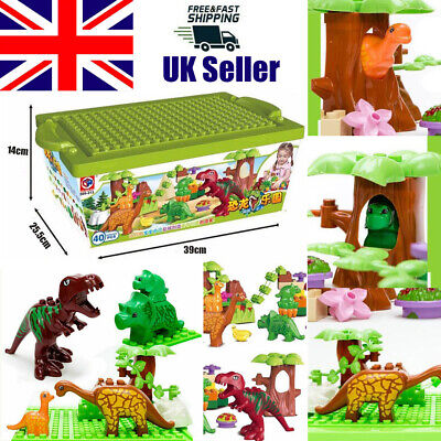 40pcs Dinosaur Jurassic World Building Block Educational Funny Toys Kids Gift UK • 8.85£