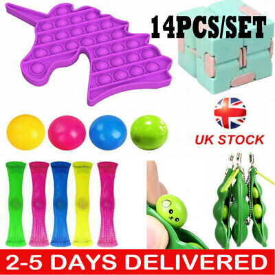 14x Fidget Sensory Toys Autism ADHD SEN Stress Relief Special Need Education Set • 13.19£