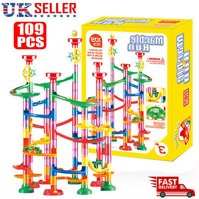 109pcs Marble Run Race Set Construction Building Blocks Kids Toy Game Track Gift • 11.76£