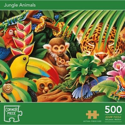 Jungle Animals 500 Piece Jigsaw Puzzle, Toys & Games, Brand New • 7£