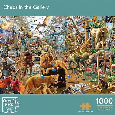 Chaos In The Gallery 1000 Piece Jigsaw Puzzle, Toys & Games, Brand New • 9£