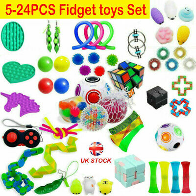 5~24PCS Fidget Toys Set Sensory Tools Bundle Stress Relief Hand Kids Adults Toy • 13.99£