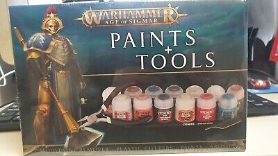 Warhammer Age Of Sigmar Paint And Tools Set • 24.99£