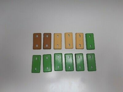 Vintage Britains Deetail Toy Soldier Spare Bases. Green Yellow Sand Tan. • 4.70£