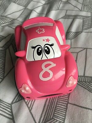 Girls Chicco Turbo Touch Pinky Toy Car • 3£
