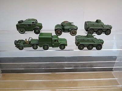 Dinky Toy Army Collection Of  6 Vehicles Unboxed And In A Play Worn Condition • 15.50£