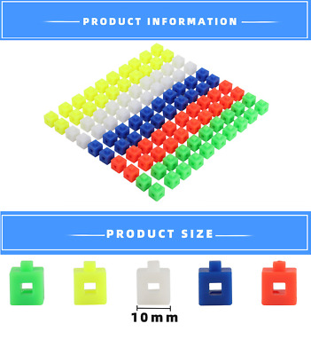 100 1cm Interlocking Linking Snap Cubes Counting Maths Home Schooling Teaching • 3.99£