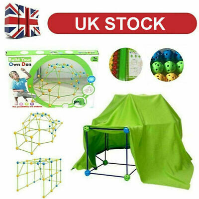 UK Building Your Own Den Kit Play Construction Fort Tent Making Set Builder Toy • 16.99£