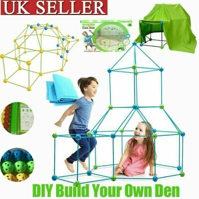 Building Your Own Den Kit Play Construction Fort Tent Making Set Builder Toy • 16.99£