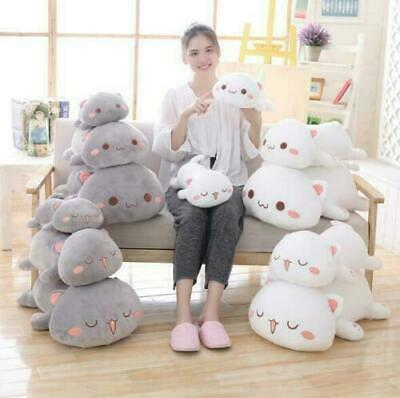 Kawaii Lying Cat Soft Toys Stuffed Cute Cat Doll Lovely Animal Kids Holiday Gift • 18.75£