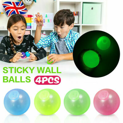 4 X Sticky Wall Balls For Ceiling Stress Relief Globbles Squishy Relief Xmas Toy • 3.99£