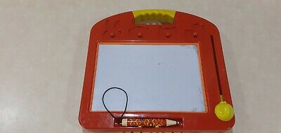 Etch-A-Sketch Style Toy….beanbag Cushion For Comfort….NO Stampers…12ins X 12ins… • 3£