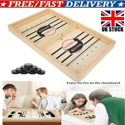 Wooden Hockey Game Table Game Family Fun Game Parent-child Interactive Toy   • 12.85£