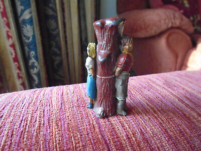 Vintage Lead Toy Figure Man And Lady Tied To Tree Crescent Cowboy Cowgirl • 0.99£