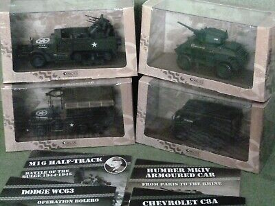 Atlas Editions W.W. II Military Vehicles 1:43 Scale (4 Models From 6690 Series). • 15£