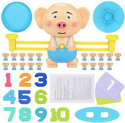 Piggy Match Math Balancing Scale Toy Educational Toy For Children Xmas Gift • 9.99£