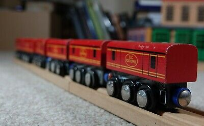 Six Post Office Mail Coaches Cars Brio ELC Etc Compatible For Wooden Train Set • 2.20£