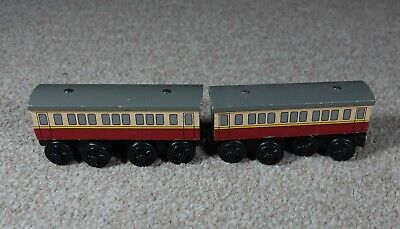 Pair Of Express Coaches Brio ELC Etc Compatible For Wooden Train Set Toy • 0.99£