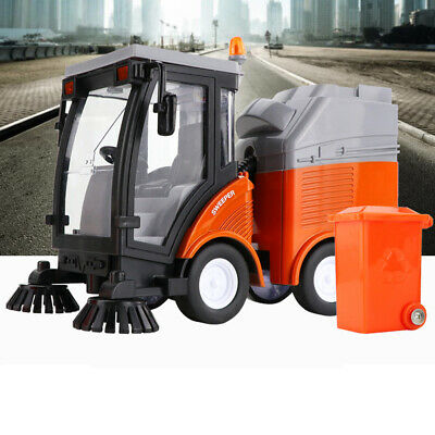 Street Sweeper Truck With Light & Sound Effects - Friction Powered Wheels, • 10.73£